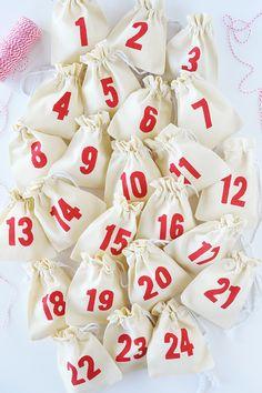 Make this adorable DIY Muslin Bag Advent Calendar.