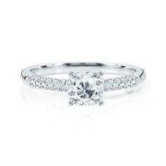 Engagement Ring with Side Stone 8.36 CT. TW. with [CUS051JSI129748] 0.51 Carat Cushion Shape IGI Certified Diamond