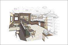a design & concept company Interior Rendering, Interior Sketch, Interior Design, Perspective, Graphic Design Print, Sketch Design, Designs To Draw, House Plans, Floor Plans