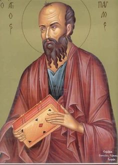 """This is Saint Paul the Apostle. In the nun's tale he is quoted as saying that """"All that has been written has been written so we can learn it well,"""" lending some credibility to the the nun's fable. Christian Images, Early Christian, Byzantine Icons, Byzantine Art, Paul The Apostle, Archangel Raphael, Raphael Angel, Russian Icons, Religious Icons"""