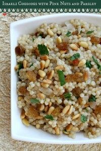 Israeli Couscous with Pine Nuts and Parsley - RecipeGirl.com