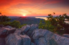 Pinnacle Mountain  sunset; overlooking Lake Maumelle by photogg19, via Flickr