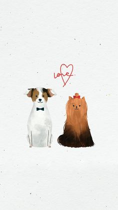 Dog wedding day mobile screen background | premium image by rawpixel.com / nunny Wedding Drawing, Wedding Painting, Friends Illustration, Cute Illustration, Dog Wallpaper, Mobile Wallpaper, Dog Wedding, Wedding Day, Dog Icon