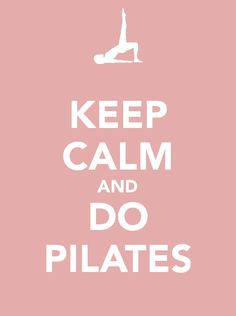 Pilates! I can't even tell you what they've done for my body now that I go to a Pilates class every week. Yes I can, it's rocking it.