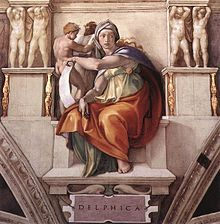 A Sibila de Delfos, por Michelangelo