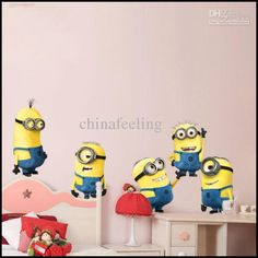 Wholesale Wall Decal - Buy Despicable Me Minion Movie Wall Decal Removable Wall Sticker Home Decor Art Kids /Nursery Loving Gift 2013 New Design $5.7   DHgate