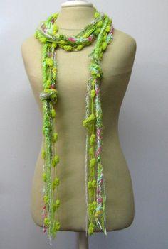 Spring Meadow Gypsy Fringe Braids Scarf by PurpleSageDesignz, $ 16.00