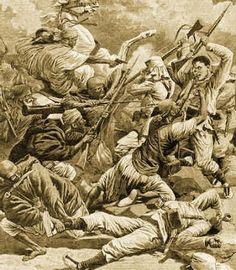 Batalla en 1909 en el zoco de El Had de Benikisar (Melilla), durante la guerra del Rif,http://elblogdeacebedo.blogspot.com.es/2015/06/los-heroes-de-nuestra-historia-en-la.html