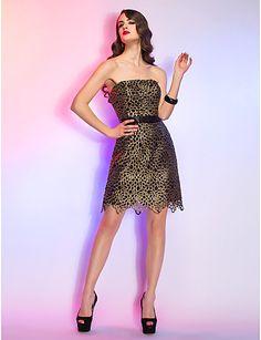 Θήκη   Στήλη στράπλες Short   Mini Lace φόρεμα κοκτέιλ – USD   119.99 Βραδινά  Φορέματα b0c82c7c0be