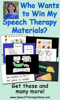 Who Wants to Win My Speech Therapy Materials?