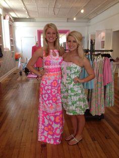 Chrisea and Julia ready for the Fashion Show!