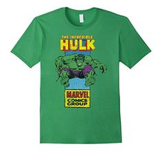 Marvel+Comics+Retro+Shirt Products : The Incredible Hulk Retro Comic Side Panel Stamp T-Shirt