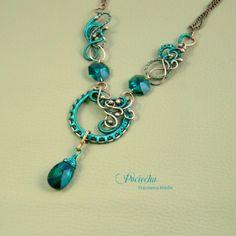 Viridis - naszyjnik z kryształami Swarovskiego w zieleni