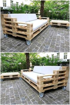 pallets patio couch on wheels