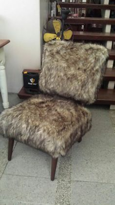 Faux Sheeps Skin Chair