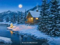 зимняя ночь - Поиск в Google