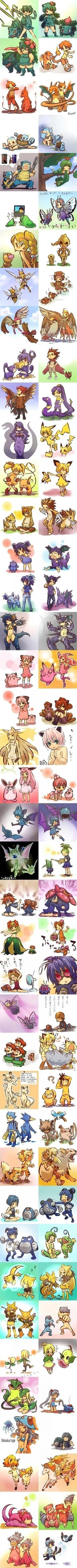 I'm not into pokemon all the much but these are super cute!  Pokéhumans. Pretty good art work