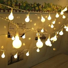 Indoor/Outdoor String Lights Battery Powered 100 LED Globe String Lights Waterproof Starry Lights with Remote & Timer Hanging Lights String for Wedding Patio Garden Party Xmas Tree Warm White