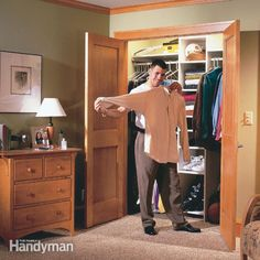 Need more closet space? You gain tons of storage space by stealing a few feet from a room and building a new closet.