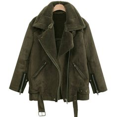 The Classy Issue Outfits Otoño, Winter Outfits, Cool Outfits, Shearling Jacket, Fur Jacket, Green Jacket, Outerwear Women, Outerwear Jackets, Winter Wear
