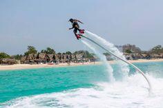 Woooooohooooooooo. Now how do I land this thing? Instructions come with Cartagena FlyBoard. http://ticartagena.com/en/things-to-do/tours-experiences/a-wet-dream-for-aspiring-superheroes/