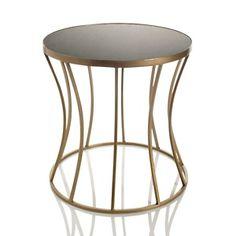 Nate Berkus hourglass table stone top