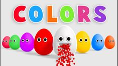 Learn Colors with Surprise Eggs and Color Balls - Colours for Children Baby Finger Song, Finger Family Song, Learning Colors, Coloring For Kids, Balls, Eggs, Colours, Children, Stuff Stuff