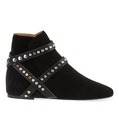 ISABEL MARANT Ruben suede ankle boots (Black