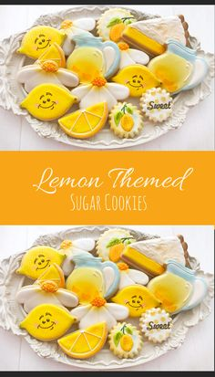 12 Assorted Lemon Themed Sugar Cookies Tea Birthday Summer Lemonade #affiliate