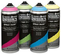 Spray paint you can use indoors.  Liquitex Professional Spray Paint