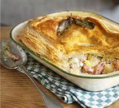 Ham, leek & potato pie