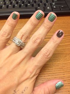 Jamberry Nail Wraps! Peppermint Patty and Sheer Genius! ashleyroyjams.jamberrynails.net