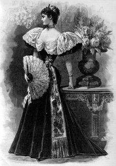 Dinner dress, 1894 US, Harper's Bazaar