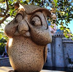 Owl statue at my favorite place. Disneyland