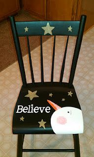 From Old chair to Christmas Gift.... by Patti Hurlburt