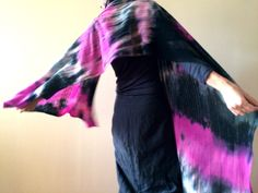 colorful hand dyed shawl, warm winter wool scarf, artsy lambswool wrap, soft knitted overlay, amaranth graphite large scarf, gift OOAK 130 by AnnaDamzyn on Etsy
