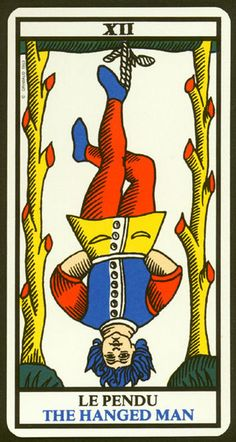 O Pendurado - A carta XII do Tarot - A Arte dos Oráculos
