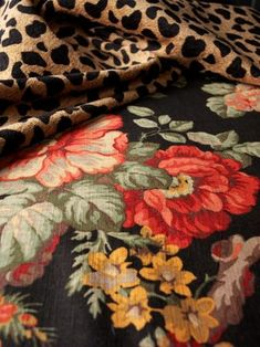 Leopard and Floral together: Beautiful and Bold