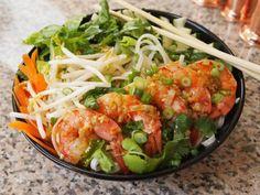 vietnamese shrimp dishes | Vietnamese Rice Noodle Salad with Shrimp