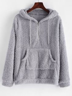 Half Zip Kangaroo Pocket Fluffy Hoodie zaful ,champion hoodie,womens hoodies on sale,womens designer hoodies, Trendy Fashion, Girl Fashion, Fashion Outfits, Fashion Black, Fashion Ideas, Vintage Fashion, Casual Skirt Outfits, Cute Outfits, Grey Hoodie