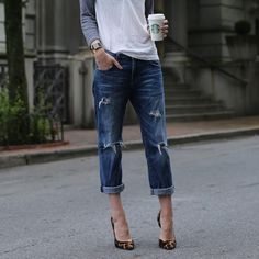 Loved Destroyed Boyfriend Jeans - Elliot/Current