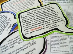 Report Alternative: Book Blurbs Book blurbs -great idea for sharing book recommendations!Book blurbs -great idea for sharing book recommendations! Library Lessons, Reading Lessons, Reading Strategies, Teaching Reading, Library Ideas, Library Skills, Teaching Ideas, Teacher Resources, Teaching Tools