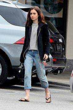 February 20 - Lily Collins in West Hollywood Lily Collins Casual, Lily Collins Style, Paris Outfits, Fashion Outfits, Classy Outfits, Cool Outfits, Selfies, Foreign Celebrities, X Picture