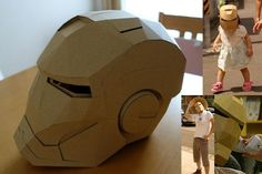 Wearable Iron Man helmet 1/1 scale made from cardboard- by Tomowo/3D paper