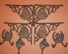 Check out 8) Equestrian Christmas Gift, Horse Shelf Brackets, Horse Wall Hooks, Horse Home Decor, Cast Iron, Vintage-look, Free Shipping on wepeddlemetal