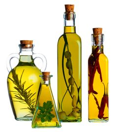 herb infused oil and honey.
