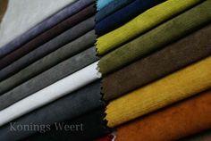 Effen meubelstoffen in vele kleuren. Konings Meubelstoffeerderij. www.konings-weert.nl