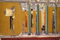 late 1930's, Mark Rothko: Subway series.