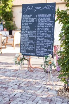 This Malibu wedding is what happens when a bride brings ALL the right vendors on board for her day. Vendors who truly understand her vision - plus then some. I'm talking creatives like Lilla Bello , Wedding Signage, Wedding Seating, Wedding Programs, Wedding Events, Wedding Reception, Our Wedding, Wedding Tables, Wedding Decor, Wedding Ideas