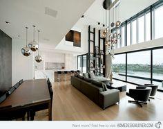 15 Homey Contemporary Open Living Room Ideas